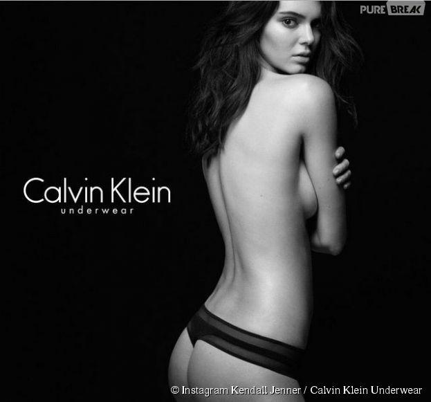 Kendall Jenner à moitié nue pour Calvin Klein Underwear en juillet 2015