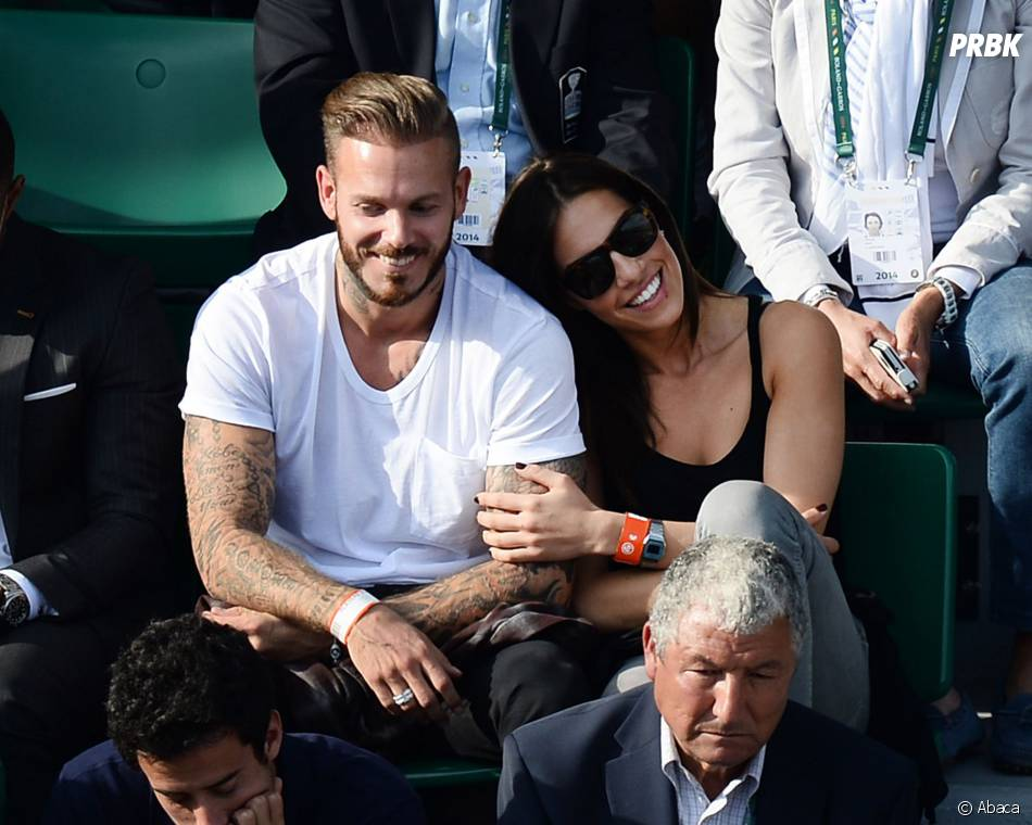 M. Pokora et Scarlett Baya dans les tribunes de Roland Garros 2014