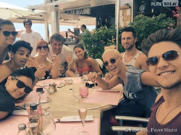 Rayane Bensetti, Denitsa Ikonomova, Christophe Licata... retrouvailles pour l'équipe de Danse avec les Stars le 19 juillet 2015 dans le Sud de la France
