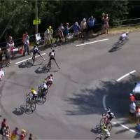 Tour de France 2015 : un coureur rate le virage et chute dans un ravin