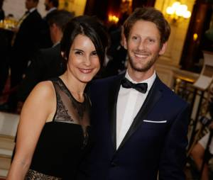 Marion Jollès et Romain Grosjean : couple glamour au gala Enfance & Cancer, le 9 septembre 2015 à Paris