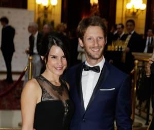 Marion Jollès et Romain Grosjean : couple glamour au gala Enfance & Cancer, le 9 septembre 2015 à Paris