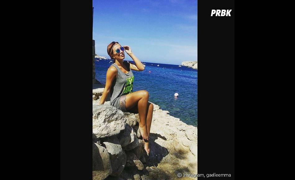 Gaëlle Petit (Les Ch'tis VS Les Marseillais) en vacances à Ibiza