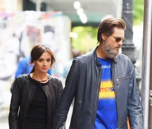 Jim Carrey et sa petit-amie Cathriona White dans les rues de New York, le 21 mai 2015