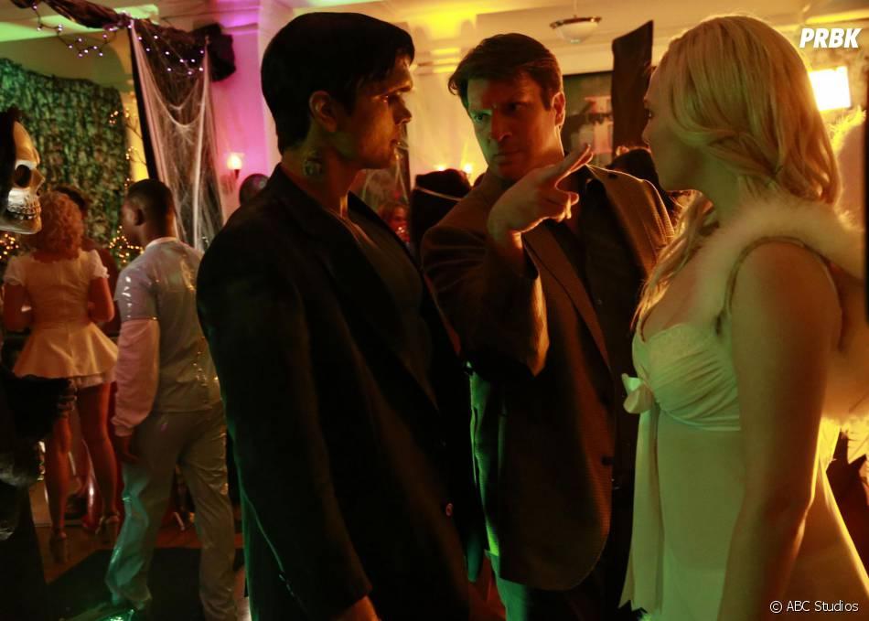 Castle saison 8, épisode 3 : Nathan Fillion et Molly Quinn sur une photo