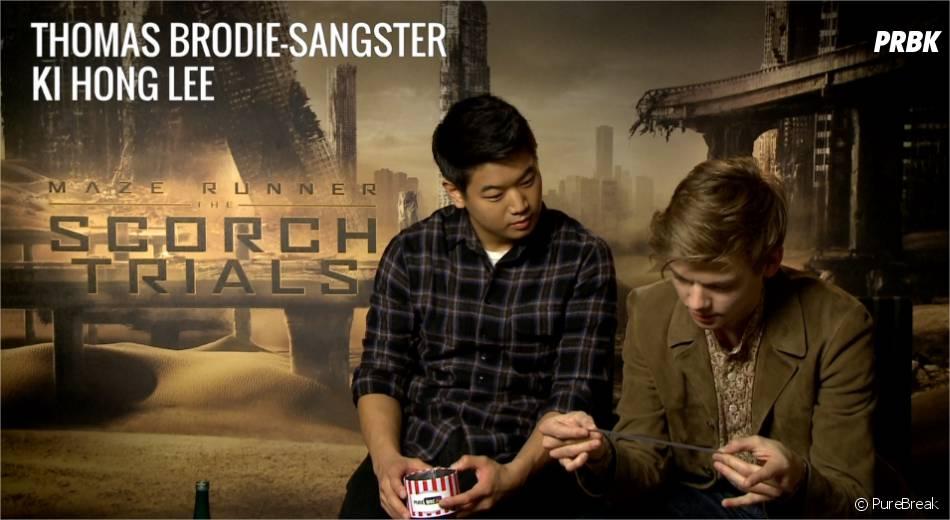 Thomas Brodie-Sangster et Ki Hong Lee du Labyrinthe 2 face aux questions cons de PureBreak