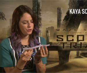 Kaya Scodelario du Labyrinthe 2 face aux questions cons de PureBreak
