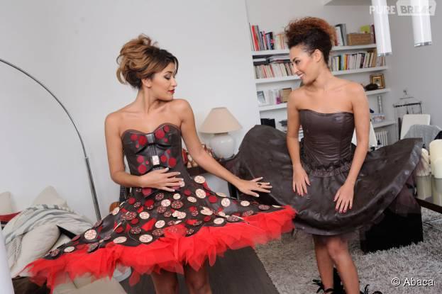 Karima Charni et sa soeur Hedia sexy pour le Salon du chocolat 2015