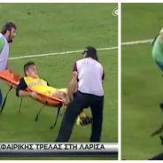 FAIL : un joueur de foot blessé se fait encore plus amocher par les brancardiers !