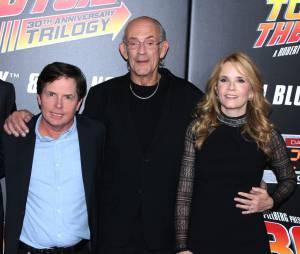 Michael J. Fox, Christopher Lloyd et Lea Thomsonà la projection du 30ème anniversaire de Retour vers le futur, le 21 octobre 2015