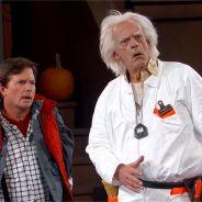 Retour vers le futur : Marty McFly et Doc débarquent en Delorean chez Jimmy Kimmel !