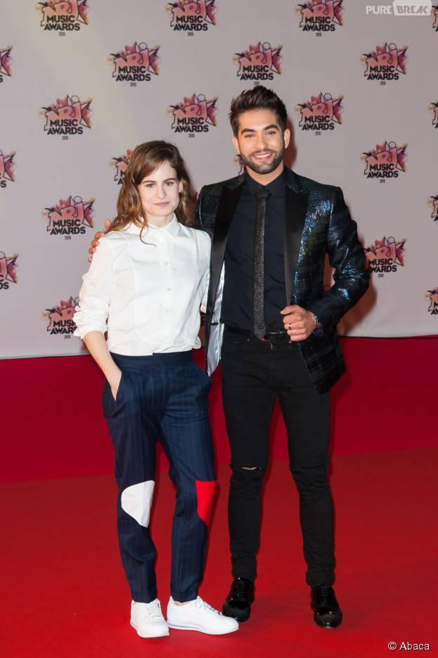 kendji girac et christine and the queens sur le tapis rouge des nrj music awards 2015 le 7. Black Bedroom Furniture Sets. Home Design Ideas