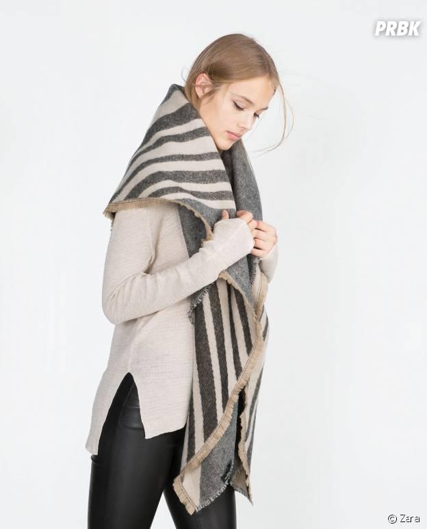 Foulard soft géométrique Zara