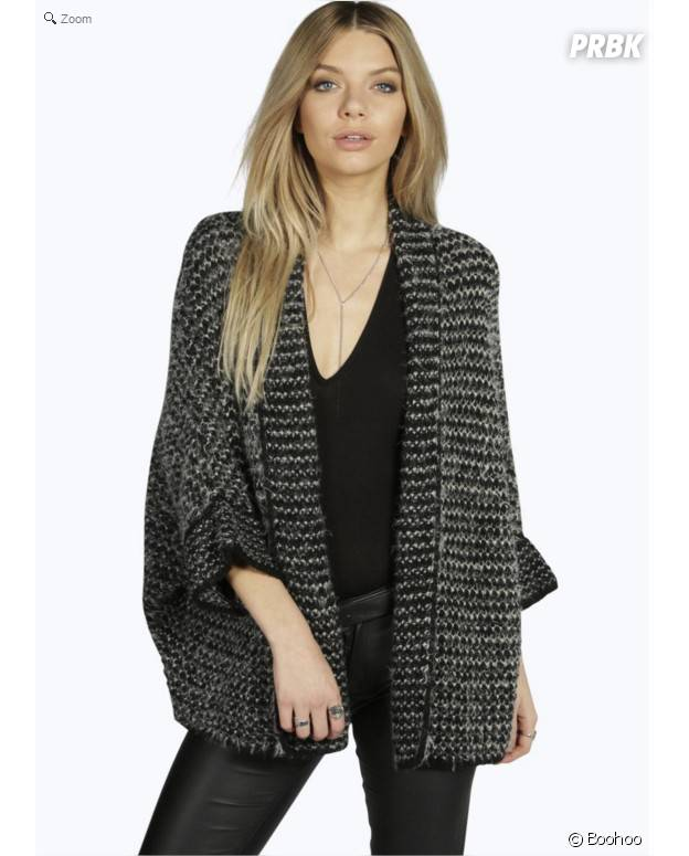 Cardigan tricot en laine chez Boohoo