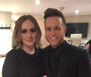Adele et Olly Murs dans les coulisses de la finale de The X Factor UK 2015