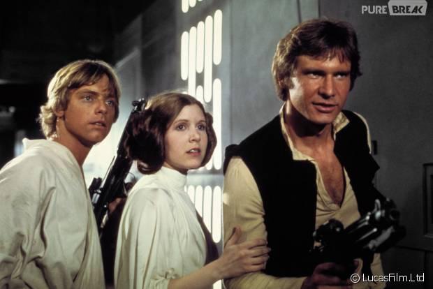 Camera Cachee Star Wars : Star wars : harrison ford mark hamill carrie fisher lavant