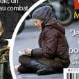 Mallaury Nataf SDF en couverture de France Dimanche le 18 décembre 2015