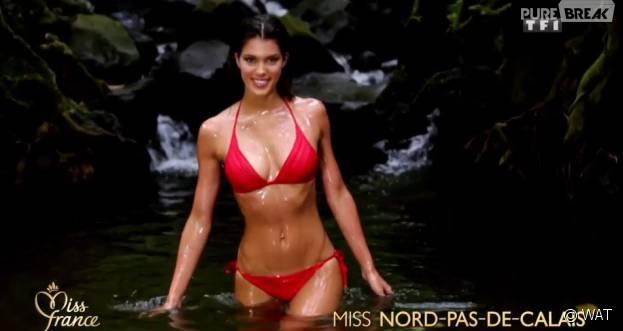 Iris Mittenaere (Miss Nord-Pas-de-Calais) : Miss France 2016 sexy en bikini