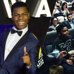 Star Wars - Le Réveil de la Force : John Boyega surprend des fans au cinéma à New York