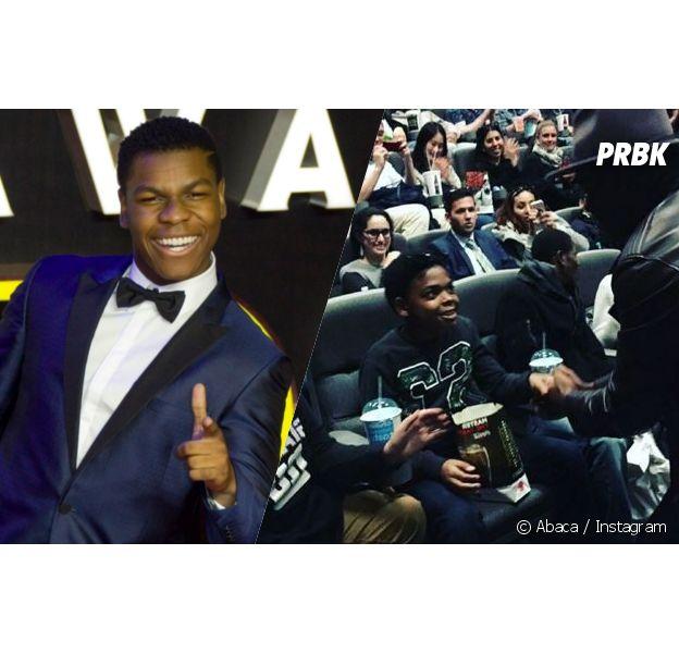 John Boyega a surpris des fans de Star Wars dans plusieurs cinémas de New York
