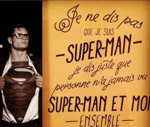 Florent Manaudou sexy dans la peau de Superman, sur Instagram, le 5 janvier 2015