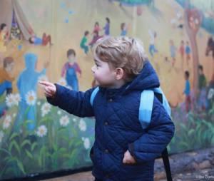 Le Prince George fait sa rentrée à la crèche dans le Norfolk le 6 janvier 2015