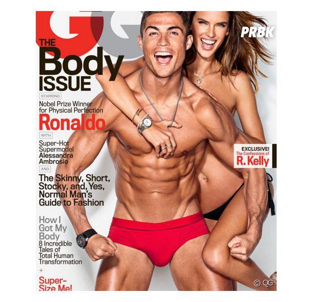 Cristiano Ronaldo en slip et musclé pour GQ au côté d'Alessandra Ambrosio topless