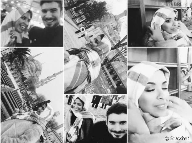Alia et Ali (Secret Story 9) en vacances à Istanbul, janvier 2016