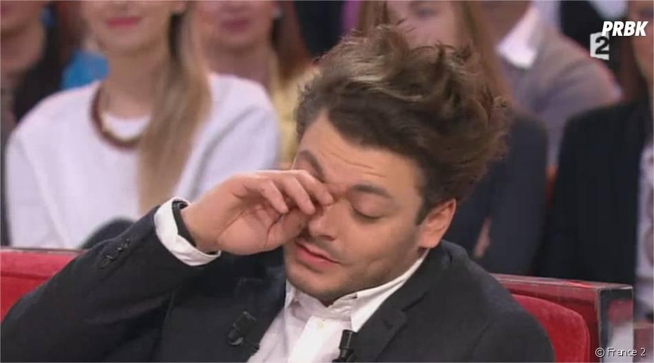 Kev Adams au bord des larmes dans Vivement Dimanche sur France 2