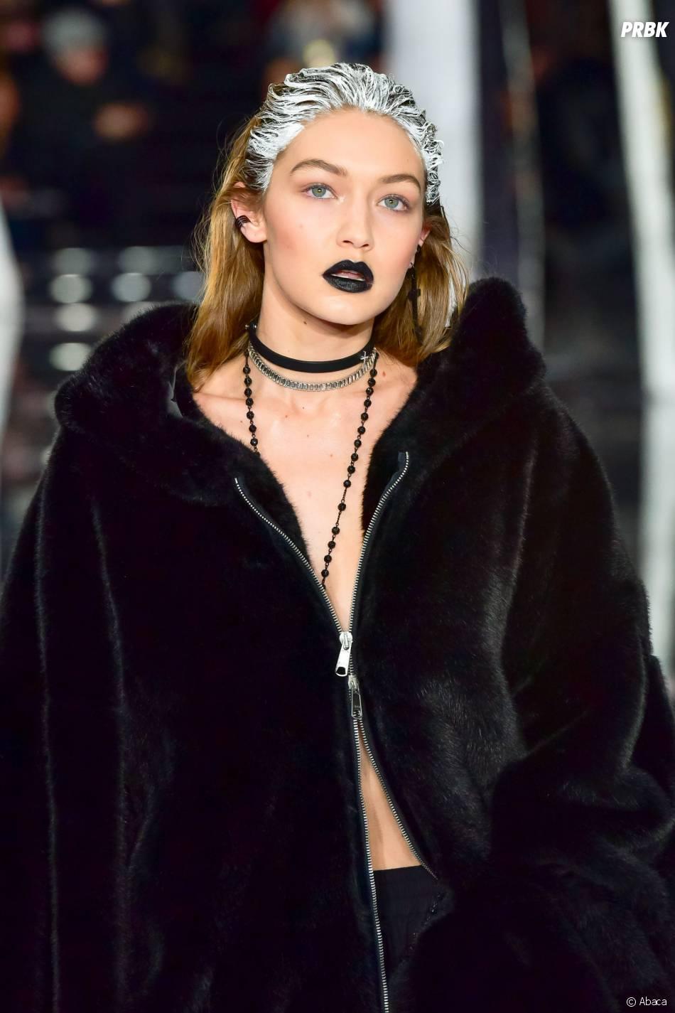 Gigi Hadid pour le défilé Fenty Puma by Rihanna pendant la Fashion Week de New-York, le 12 février 2016