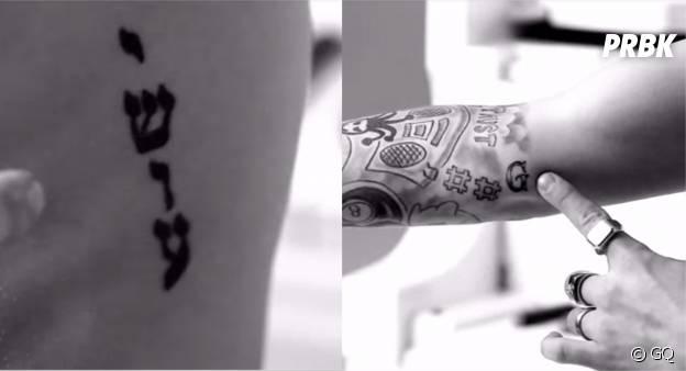 Justin Bieber dévoile ses tatouages