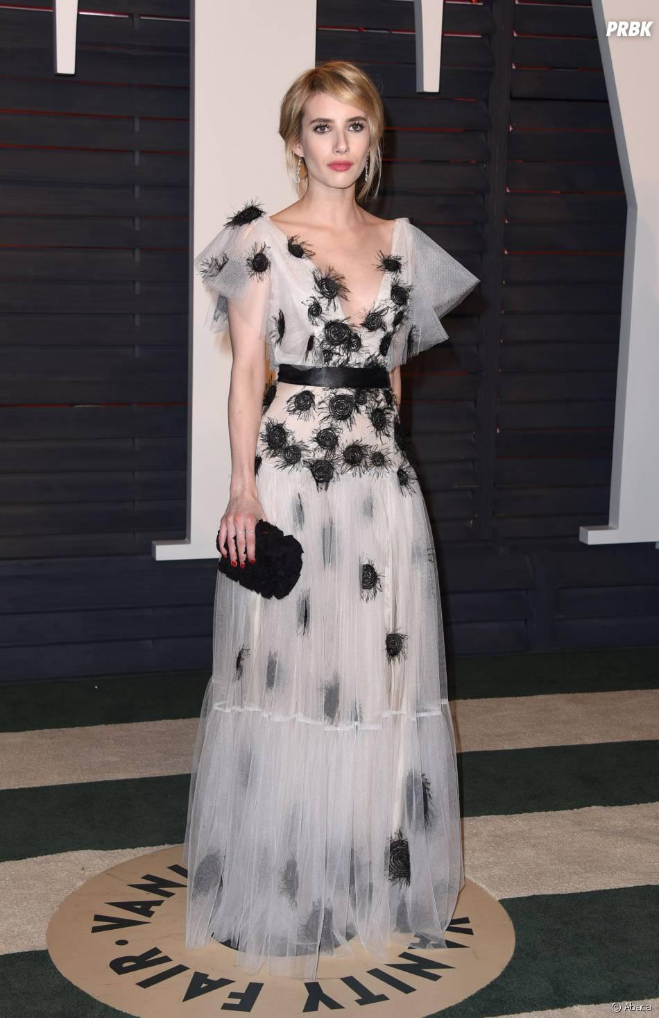Emma Roberts à la soirée organisée par Vanity Fair après les Oscars le 28 février 2016