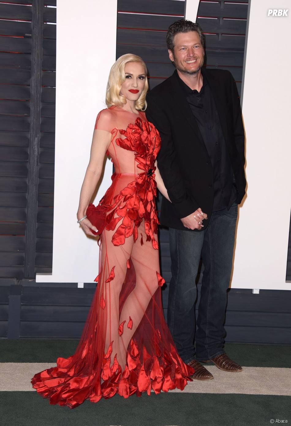 Gwen Stefani et Blake Shelton à la soirée organisée par Vanity Fair après les Oscars le 28 février 2016