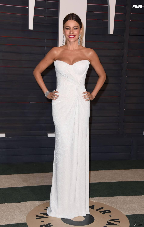 Sofia Vergara à la soirée organisée par Vanity Fair après les Oscars le 28 février 2016