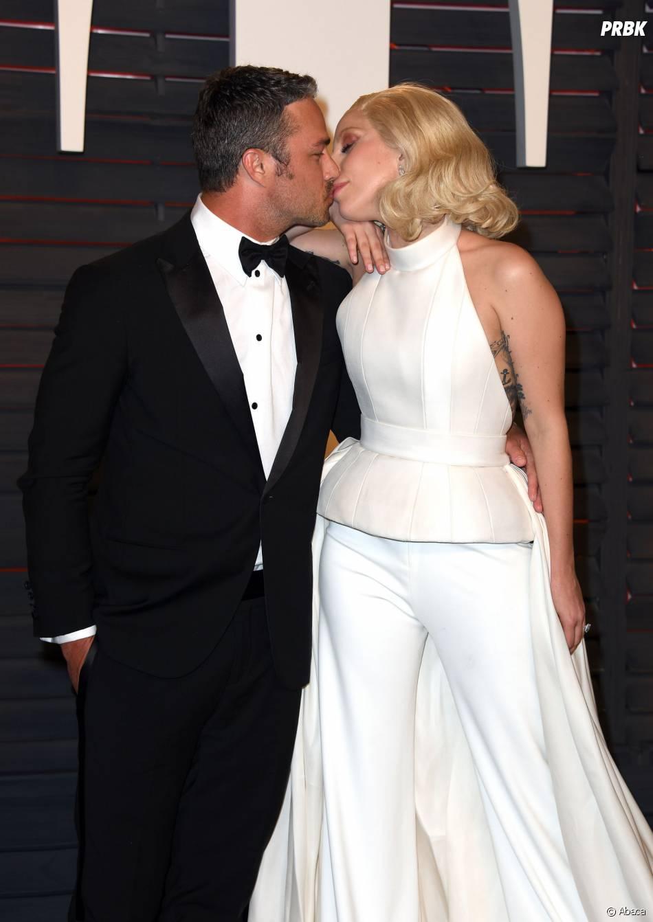 Lady Gaga et Taylor Kinney à la soirée organisée par Vanity Fair après les Oscars le 28 février 2016