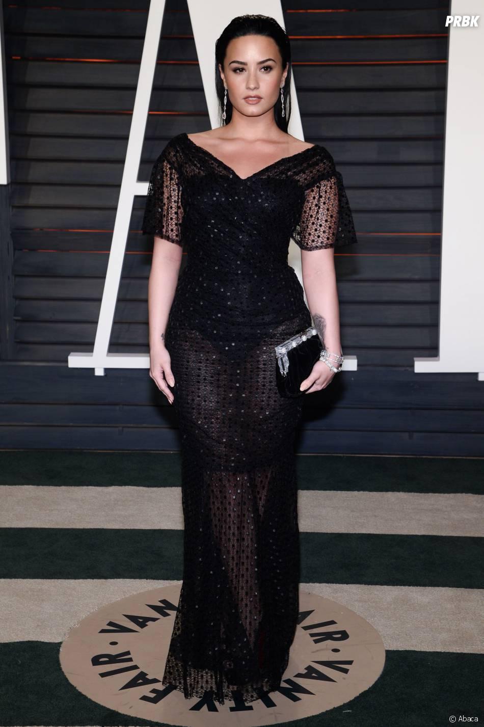 Demi Lovato à la soirée organisée par Vanity Fair après les Oscars le 28 février 2016