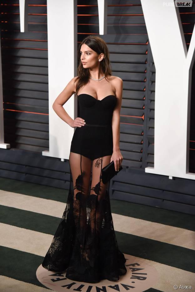 Emily Ratajkowski à la soirée organisée par Vanity Fair après les Oscars le 28 février 2016