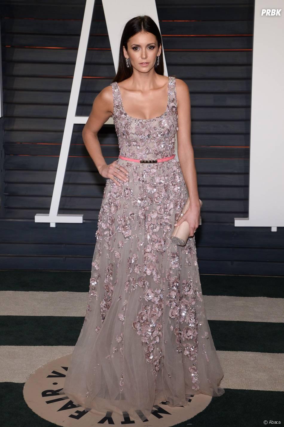 Nina Dobrev à la soirée organisée par Vanity Fair après les Oscars le 28 février 2016