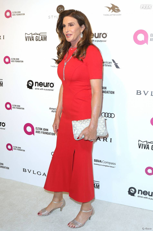 Caitlyn Jenner à la soirée organisée par Elton John pour les Oscars le 28 février 2016