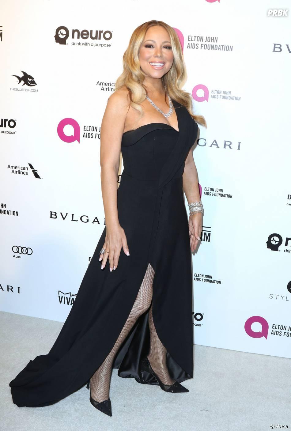 Mariah Carey à la soirée organisée par Elton John pour les Oscars le 28 février 2016