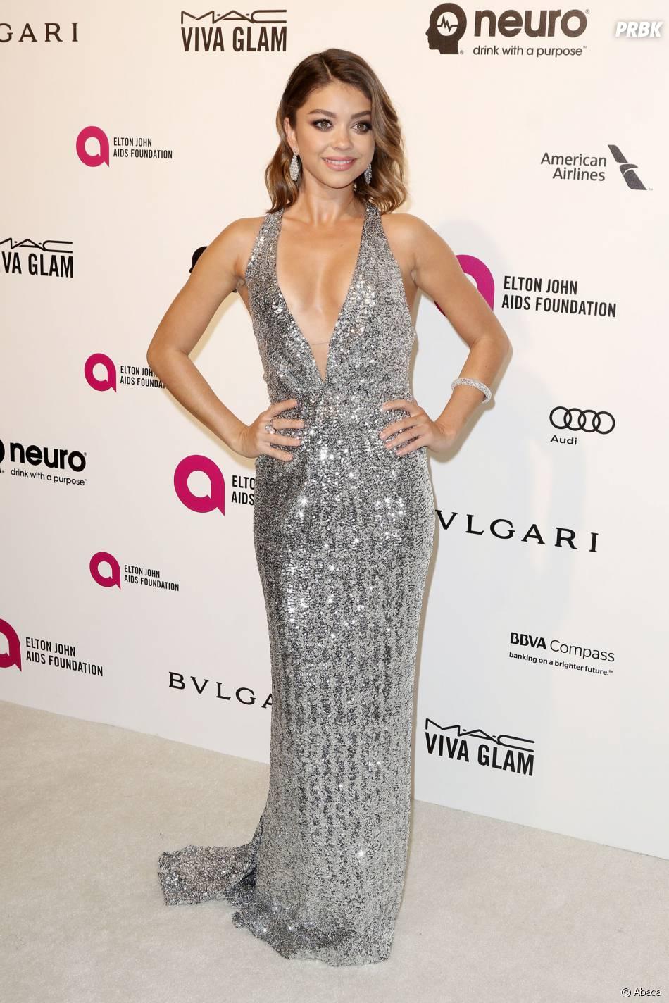 Sarah Hyland à la soirée organisée par Elton John pour les Oscars le 28 février 2016