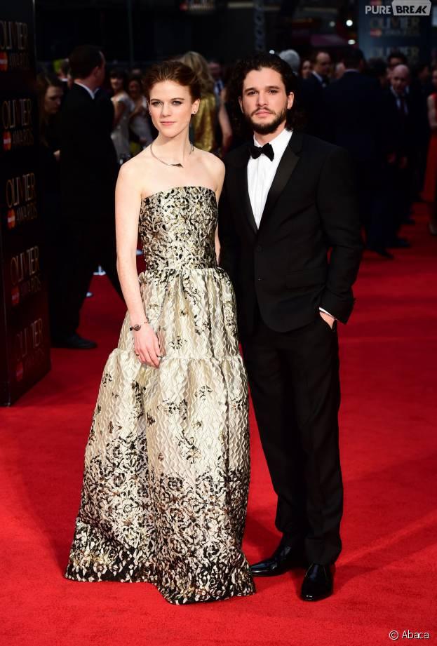 Kit Harington et Rose Leslie en couple aux Olivier Awards 2016 le 3 avril à Londres
