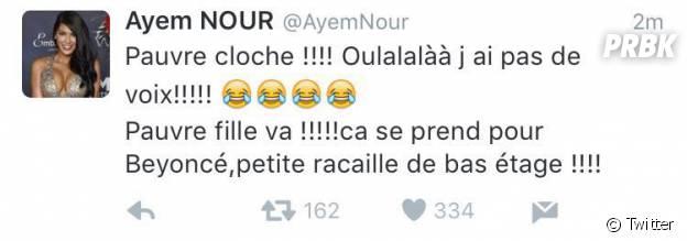 Ayem Nour répond aux insultes de Nehuda avant de supprimer ses tweets