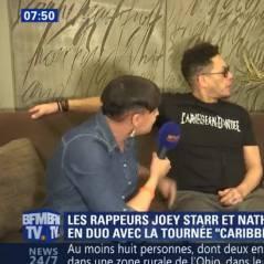 """JoeyStarr met le """"vent du siècle"""" à une journaliste en pleine interview pour BFM TV"""