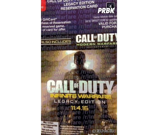 BOn de réservation Call of Duty : Inifinte Warfare Legacy Edition