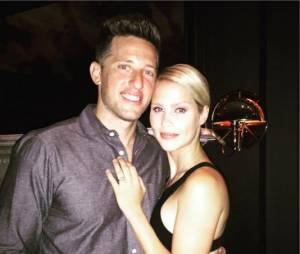 Claire Holt et Matt Kaplan lors de leurs fiançailles en juillet 2015