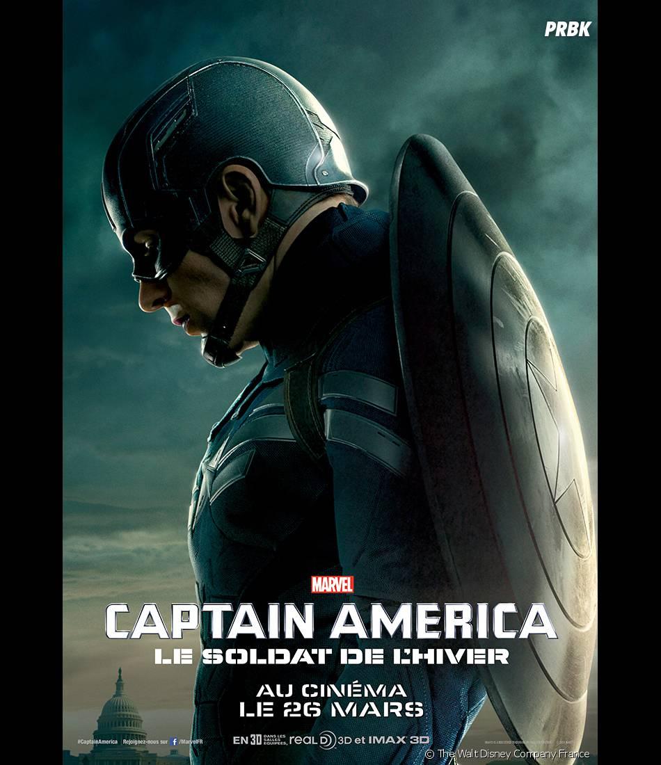 Captain America 2 : Chris Evans sur une affiche