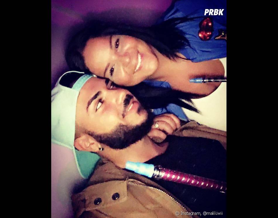Sarah Fraisou (Les Anges 8) a embrassé Malik Lebbihi pour relever un challenge sur Periscope