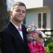 Sans cavalière au bal de promo, il invite... son chat !