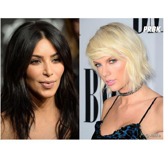 Kim Kardashian déclare la guerre à Taylor Swift, cette dernière lui répond.